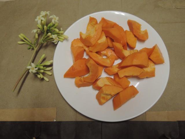 木瓜水果盤