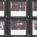 木材顯微構造創意圖騰月曆(2)-洪煜程