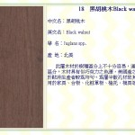 黑胡桃木 Black walnut
