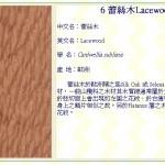 蕾絲木 Lacewood